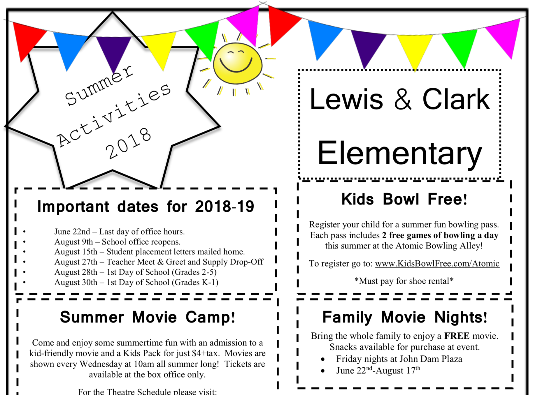 Lewis clark elementary summer activities 2018 june 20 2018 m4hsunfo